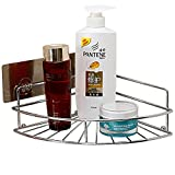 Shower Caddy Bathroom Corner Shelf Stainless Steel Wall Mounted Storage Basket Kitchen Spice Holder Organizer