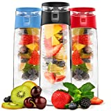 Vremi 24 oz Fruit Infused Water Bottle - Black