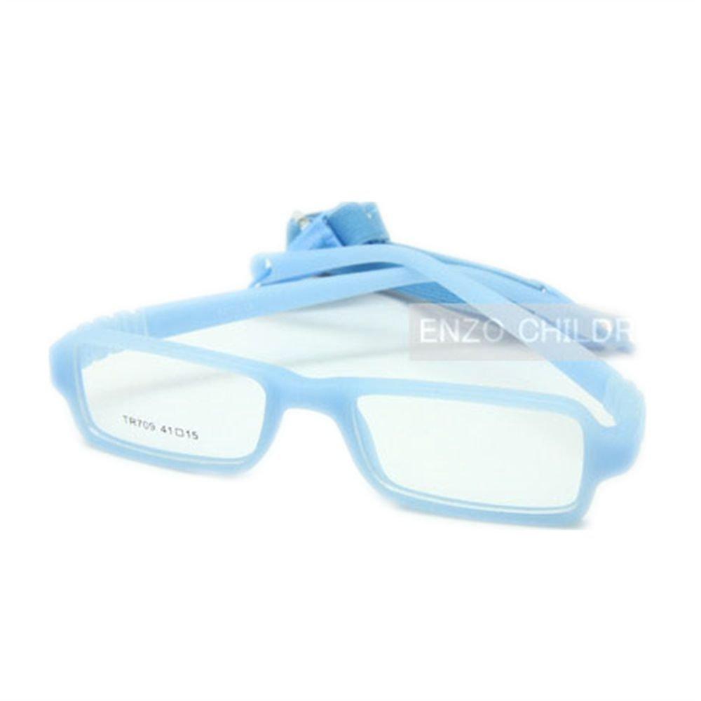 EnzoDate Baby von Brillen und Gurt, Rechteck Kinder Brille Frame mit elastischem, weichem ein Stück Abschnitt & Band Hilfstruppen, Größe 41/15, Mehrfarbig Größe 41/15