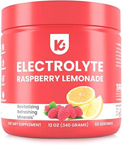 KEPPI Keto Electrolytes Powder – 50 Servings No Sugar or Carbs – Advanced Hydration Raspberry Lemonade Electrolyte…