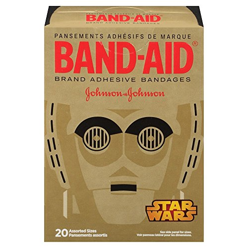 [Band-Aid Star Wars Assorted Adhesive Bandages, 20 Count] (Com Star Wars)