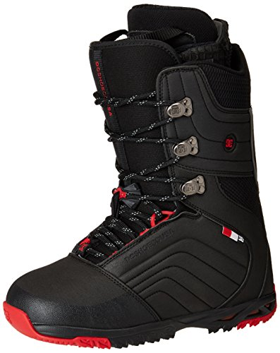 DC Scendent Snowboard Boots, Black/Red, Size 12