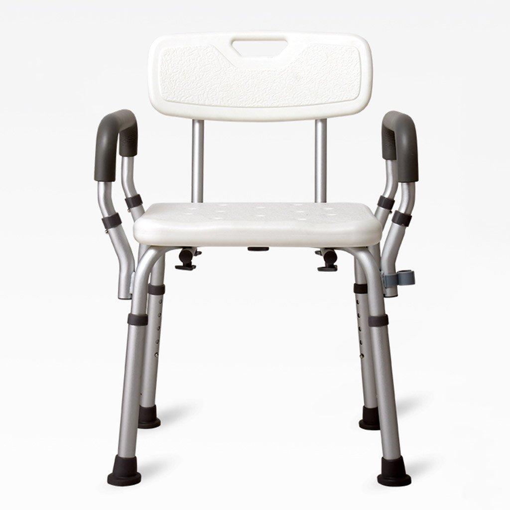 最新コレックション バスの椅子老人妊娠中の女性障害者浴室シャワー椅子入浴スツールアルミニウム合金非スリップスツール   B07DMX8227, 全ての:227197bc --- efichas.com.br