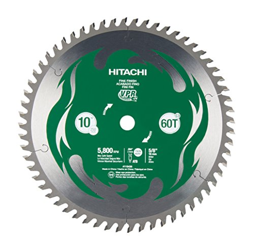 "Hitachi 115435 10"" 60T Fine Finish VPR Miter Saw Blade (Discontinued by the Manufacturer)"