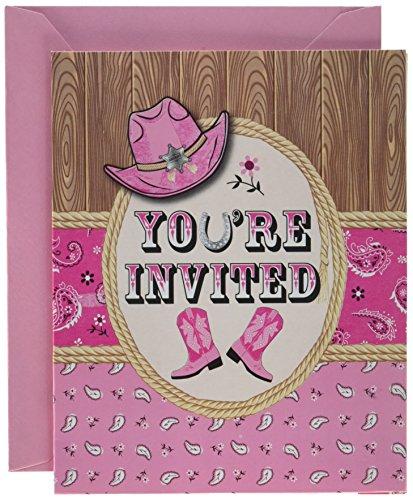 (8-Count Foldover Party Invitations, Pink Bandana)