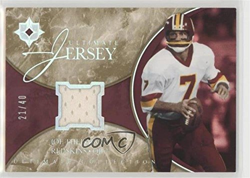 Joe Theismann #21/40 (Football Card) 2006 Ultimate Collection - Ultimate Game Jersey - Spectrum #UL-TH