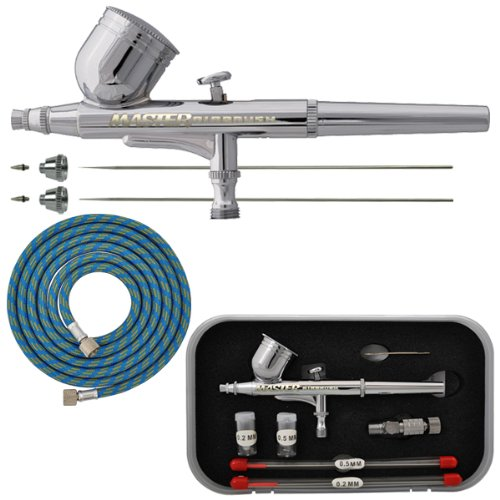 Master PRO Dual-Action Gravity Feed AIRBRUSH KIT Set Includes a Model G22 (Airbrush Set Model)