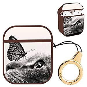 Amazon.com: Wireless Airpod Case Cat with Butterfly