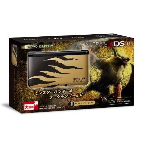 Nintendo 3DS LL Monster Hunter 4 Gold Rajan
