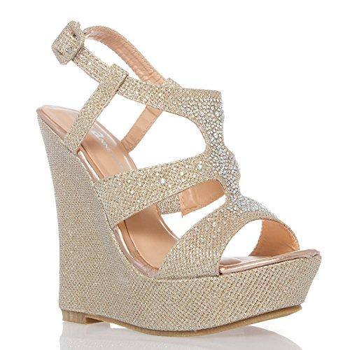 d73407d66eeb68 V-Luxury Womens 40-KENDRA1 Open Toe High Heel Wedge Platform Sandal Shoes