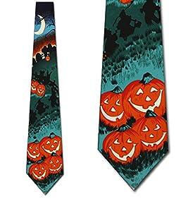 Pumpkin Patch Neck Ties Halloween Mens Neckties