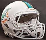 Riddell Speed MIAMI DOLPHINS NFL AUTHENTIC Football Helmet with S2BD Football Helmet Facemask/Faceguard