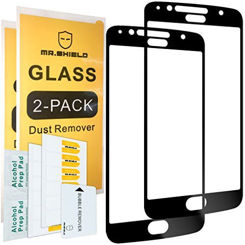 [2-Pack]-Mr.Shield for Motorola Moto G5S Plus/Moto G5S+ (Will NOT fit for G5 Plus) [Japan Tempered Glass] [9H Hardness] [Full Screen Glue Cover] Screen Protector with Lifetime Replacement