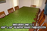 """Toys : Pixel Party ToysPixel Mine CrafterStyle PartyTablecloth(108"""" x 54"""")-Fun,VersatileBirthdayTable CoverforIndoor or OutdoorUse, WipesCleaninSeconds- Madefrom Recycled Materials"""