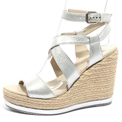 Argento Zeppa Hogan Women Donna Shoes Scarpa Argento yuta Sandalo B1236 qAwZzACfBx