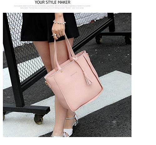 FastDirect Mode F/éminine en Cuir Zipper Sac /à Main /épaule solide Messenger Bag Purse Set Sacs port/és main