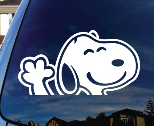 Snoopy Waving Hi Car Window Vinyl Decal Sticker 5