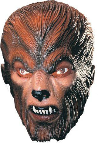 Deluxe Oversized Wolfman Licensed Universal Studios Adult Latex Mask (Adult Deluxe Mask Wolf Latex)