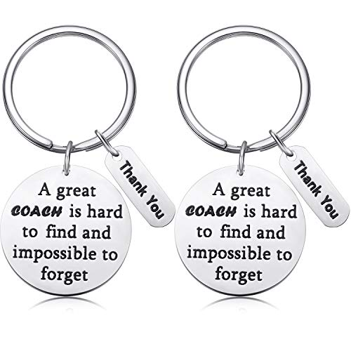 2 Pieces Coach Keychain Appreciation Gift with 2 Gift Boxes for Coach Women Men