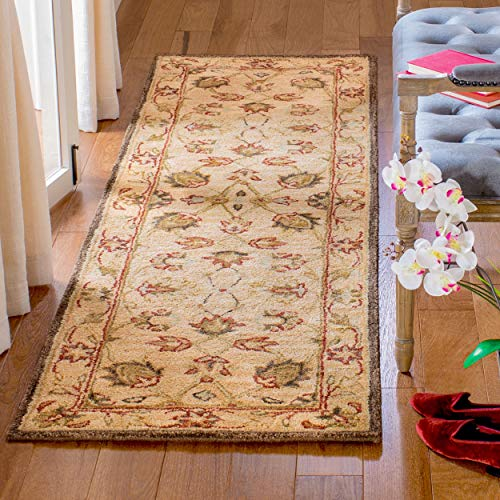 Safavieh Anatolia Collection AN512A Handmade Traditional Oriental Beige Premium Wool Runner (2'3