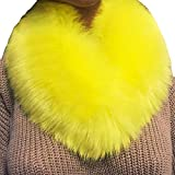 HULKAY Women Scarf Sale Premium Fashion Wrap Collar Imitation Wool Neckerchief(Yellow)