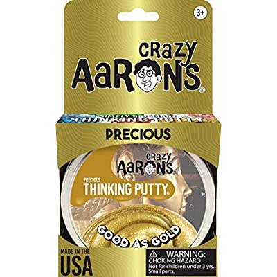 Crazy Aaron's Thinking Putty (1.6 oz) Precious Metals - Good as Gold - Soft Texture, Never Dries Out: Toys & Games