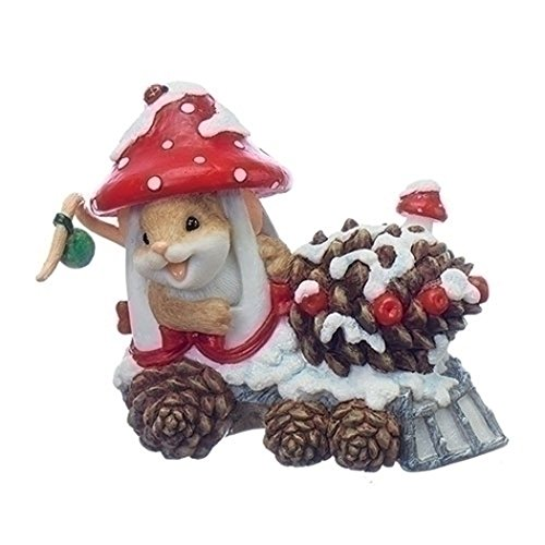 Roman – 4 MOUSE IN MUSHROOM TRAIN ALL ABOARD THE PINE CONE EXPRE