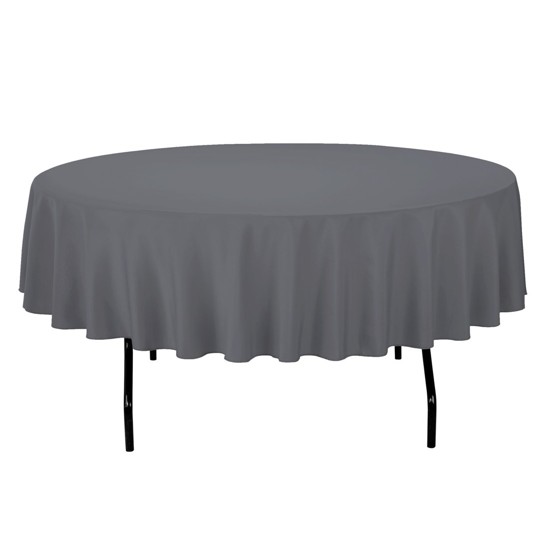 Amazon.com: LinenTablecloth Round Polyester Tablecloth, 90 Inch, Charcoal:  Home U0026 Kitchen