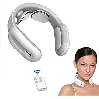 Masajeador de cuello, inteligente portátil de masaje de cuello con calor inalámbrico, 3 modos, 15 niveles, con punto de gatillo inteligente, para uso en casa, al aire libre, oficina, coche