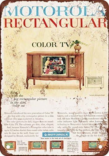 1965 Motorola Color los televisores reproducción de aspecto Vintage Metal placa metálica, 12 x 18 inches: Amazon.es: Hogar