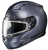 HJC CL-17SN Streamline Full Face Snow Helmet Frameless Dual Lens Shield (MC-5F Anthracite/Black, Medium)