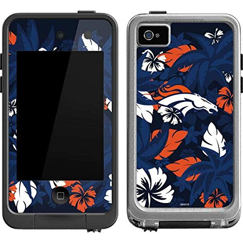 Skinit Denver Broncos Tropical Print LifeProof fre iPod Touch 4th Gen Skin for CASE - Officially Licensed NFL Skin for Popular Cases Decal - Ultra Thin, Lightweight Vinyl Decal Protection (Ipod Touch Denver Broncos Case)