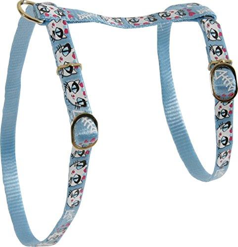 - Zolux LADYCAT Adjustable Nylon Harness Blue Width 10mm