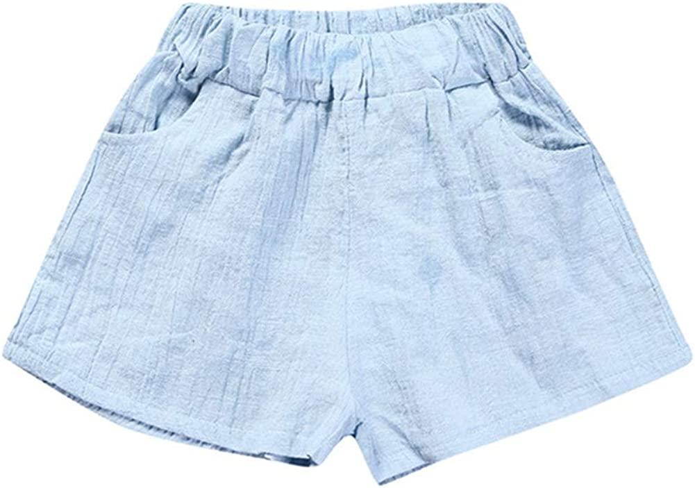 RongCun Baby Summer Solid Bloomers Unisex Baby Girls Boys Cotton Casual Candy Color Shorts