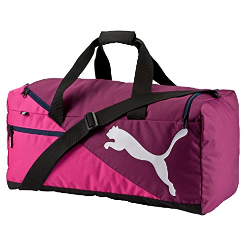 PUMA Sporttasche Fundamentals Sports Bag M, Magenta Purple/Fuchsia Purple, 26.5 x 17.5 x 31 cm, 54 liter, 073395 09