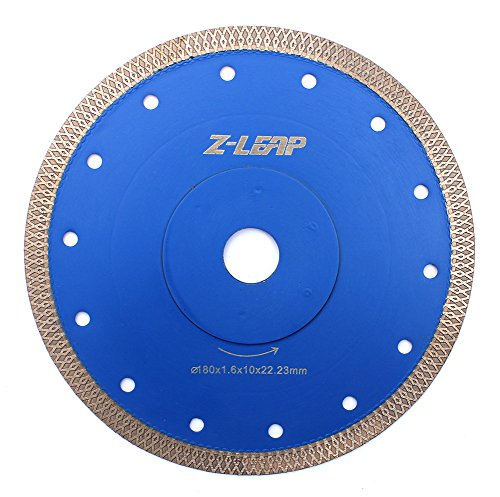 7 Inch Super Thin Rim Turbo Diamond Saw Blade for Cutting Granite Marble Ceramics Porcelain Tiles