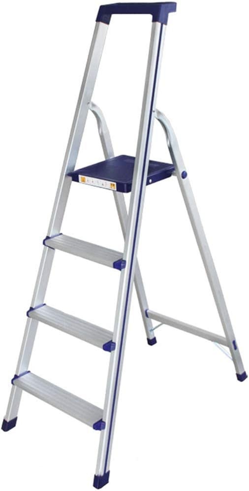 C-J-Xin Escalera de cuatro pasos, Escalera plegable multifuncional de la escalera portátil del metal de la escalera de la fotografía de la colada de coche Escalera de casa (Tamaño : 495*120*1520MM) :
