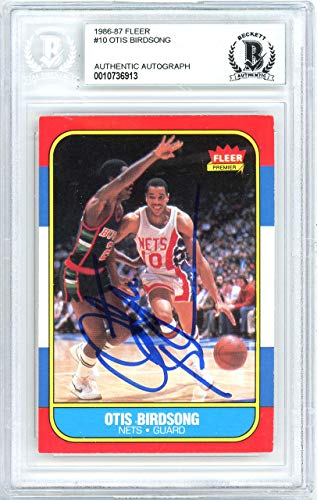 - Otis Birdsong Autographed 1986 Fleer Card #10 New Jersey Nets Beckett BAS #10736913 - Beckett Authentication