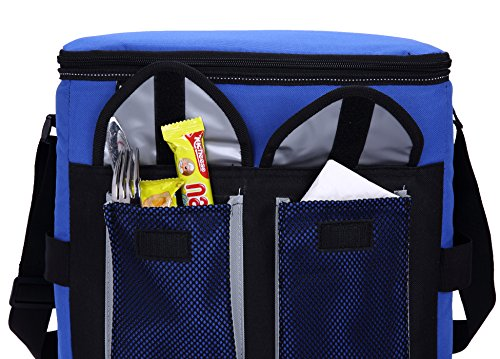 MIER 30Cans Collapsible Soft Cooler Bag Insulated Picnic Lunch Bag for Adult, Men, Women, Leakproof Liner, Blue, Large by MIER (Image #6)