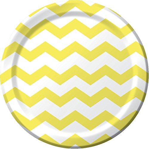 Mimosa Chevron Stripe Dinner Plates