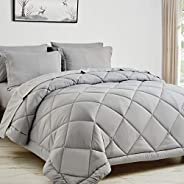 CozyLux Bed in a Bag Comforter Sets with Comforter and Sheets All Season Bedding Sets with Comforter, Pillow S