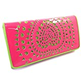 Wallet + checkbook holder 'Agatha Ruiz De La Prada' pink green.