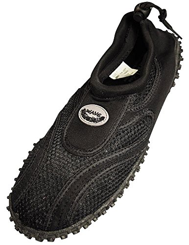 Mens Wave Water Shoes (Black, Size 11) from wave