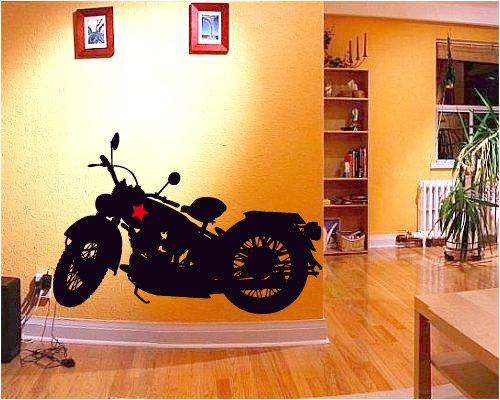 "Adesivo murale wall art ""harley davidson""   misure 90x61 cm ..."