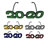 Pack of 12 Novelty 2020 Shaped New Year's Eve Props Party Favor Plastic Flame Glasses