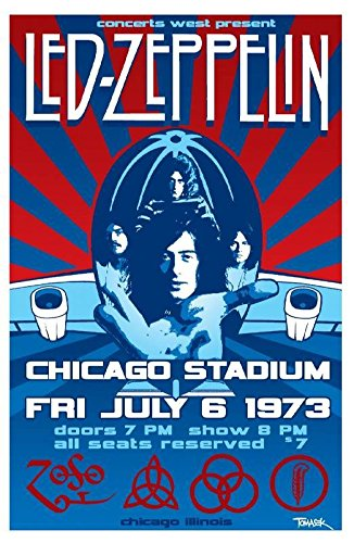 Led Zeppelin Musician Concert Poster Rock And Roll Legends Live Forever 12 X (Rock Roll Concert Posters)