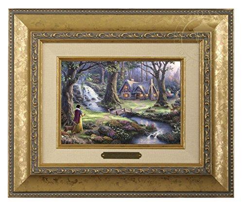 (Thomas Kinkade Disney Snow White Discovers the Cottage Brushwork (Gold Frame))