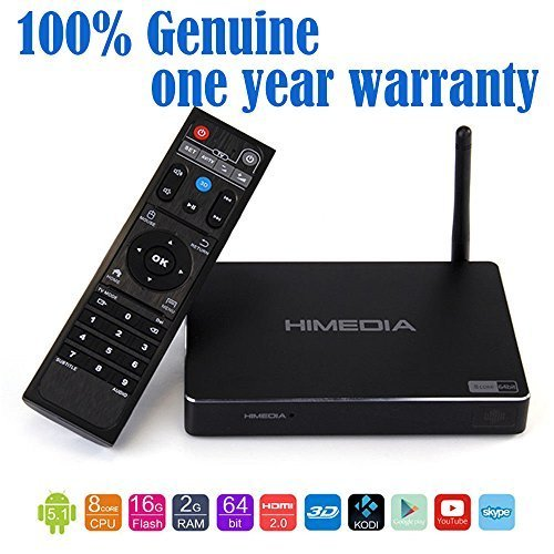 Wangang HiMedia H8 64bit Octa-Core Android 5.1 Lollipop TV Box 2GB RAM 16GB ROM RK3368 chipset with 4K60, 3D, 3D BD-ISO and H.265 support streaming media player