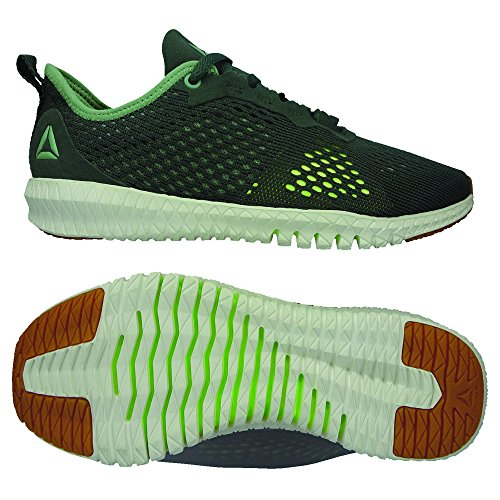 Femme Green Reebok Chaussures Industria Chalk de Multicolore Fitness 0 Flexagon TRRAwI