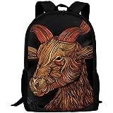 Adult Travel Hiking Laptop Backpack Deer Artwork School Office Multipurpose Zipper Bags Fashion Durable Daypacks